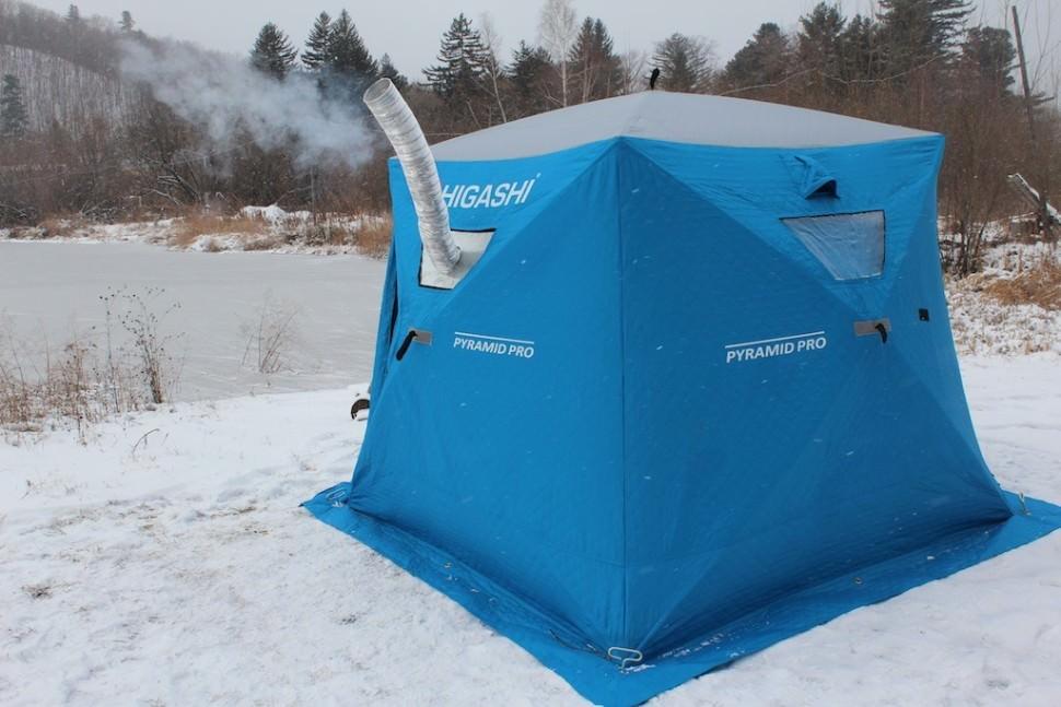 Как сделать тепло в зимней палатке